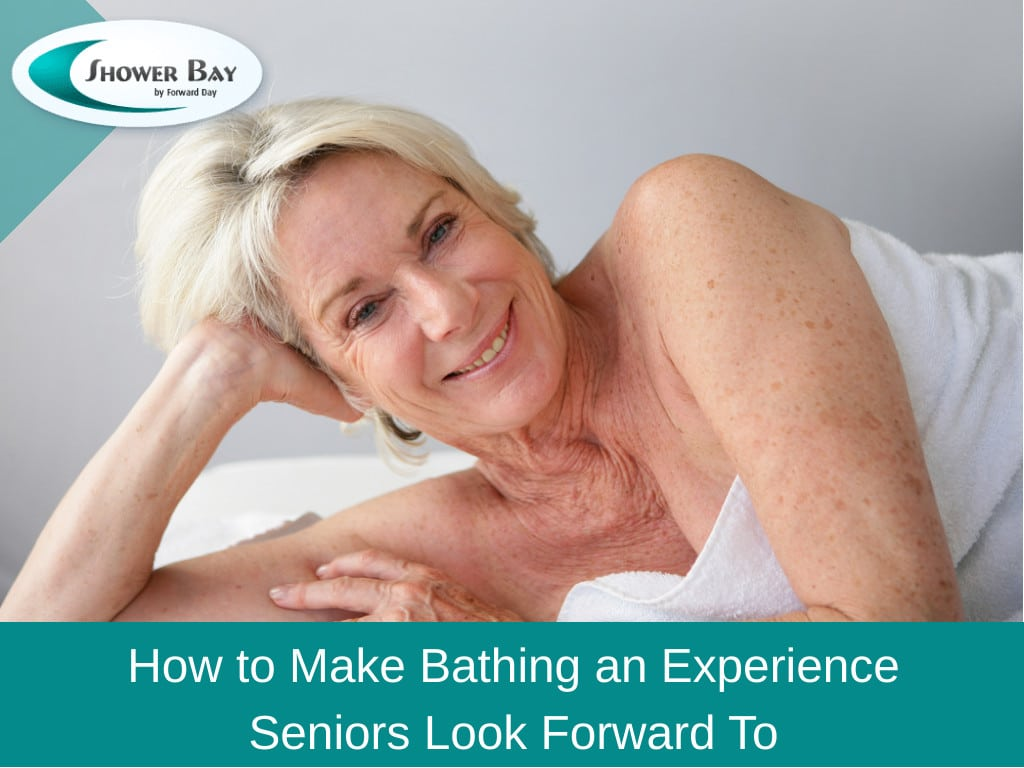 senior lady smiling in towel